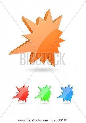starburst splash 3d icon colored