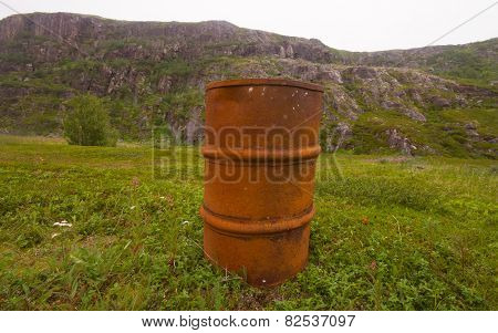 Empty Barrels In The Arctic Environmental Pollution