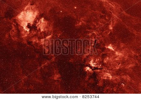 Nebular complex in Cygnus constellation