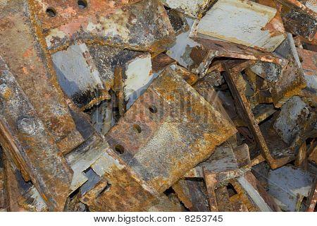 Sucata de ferro corroída