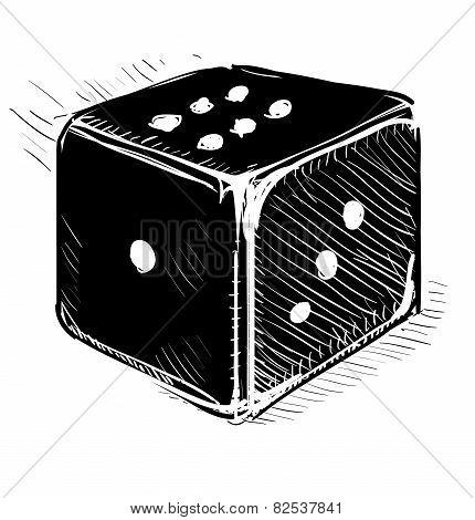 Lucky dice cartoon icon