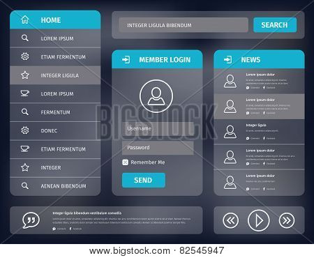 Vector Blue Mobile User Interface Design