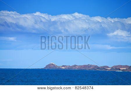 Isla De Lobos, As Seen From The Northern Tip Of Fuerteventura, Lighthouse