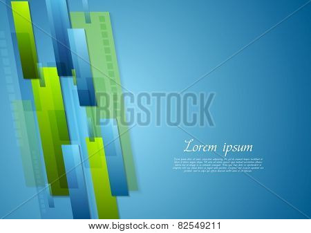 Bright corporate technology background. Vector design