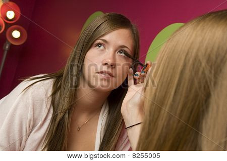 Teens Applying Makeup