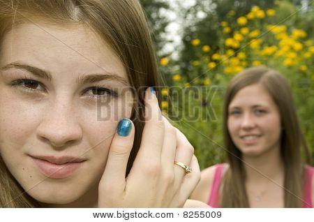 Teenage Girls Closeup