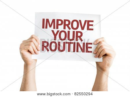 Improve Your Routine card isolated on white background