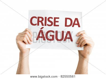 Water Crisis (in Portuguese) card isolated on white background