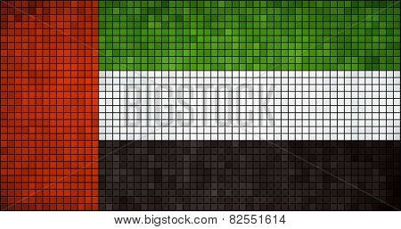 Abstract Mosaic flag of the United Arab Emirates