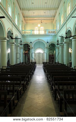 KOLKATA, INDIA - FEBRUARY 10: Church in Loreto Convent where Mother Teresa lived before the founding of the Missionaries of Charity in Kolkata, India on February 10, 2014.