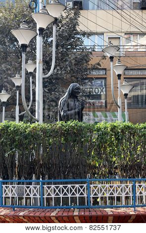 KOLKATA, INDIA - FEBRUARY 09: Monument of Mother Teresa, Nobel Prize Winner in center of Kolkata, West Bengal, India on February 09, 2014