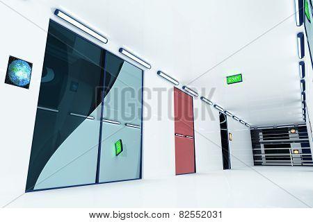 Ultra Modern Building Corridor