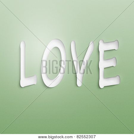 text on the wall or paper, love