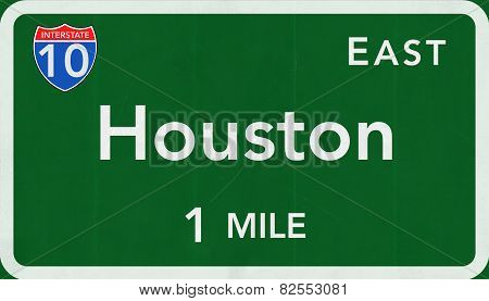 Houston USA Interstate Highway Sign