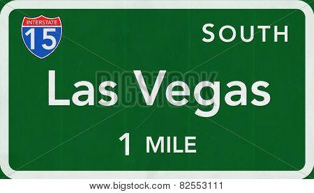 Las Vegas USA Interstate Highway Sign