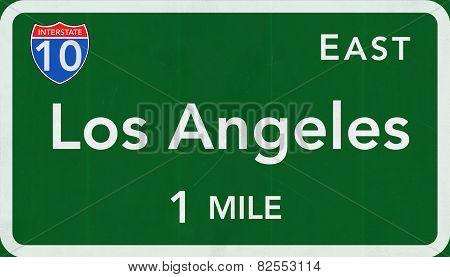 Los Angeles USA Interstate Highway Sign