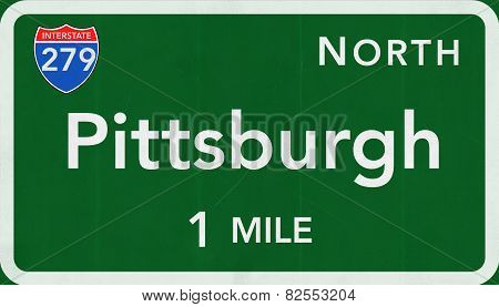 Pittsburgh USA Interstate Highway Sign