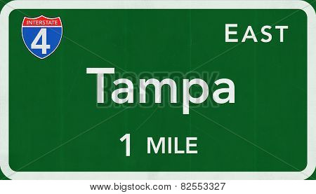 Tampa USA Interstate Highway Sign