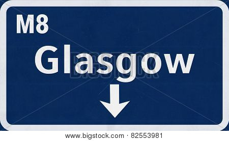 Glasgow Highway Road Sign