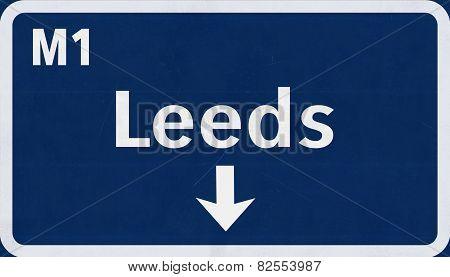 Leeds Highway Road Sign