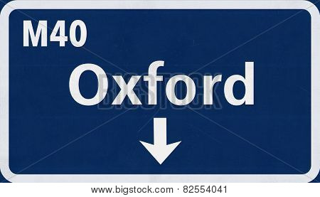 Oxford Highway Road Sign