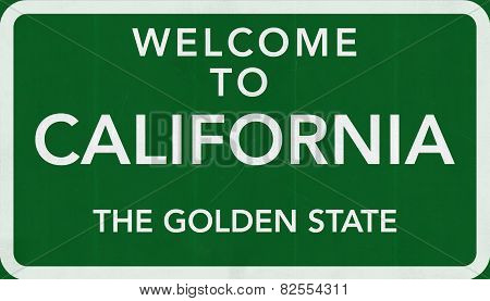 California USA Welcome to Highway Road Sign