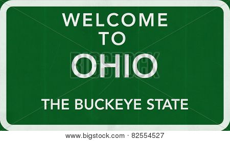 Ohio USA Welcome to Highway Road Sign