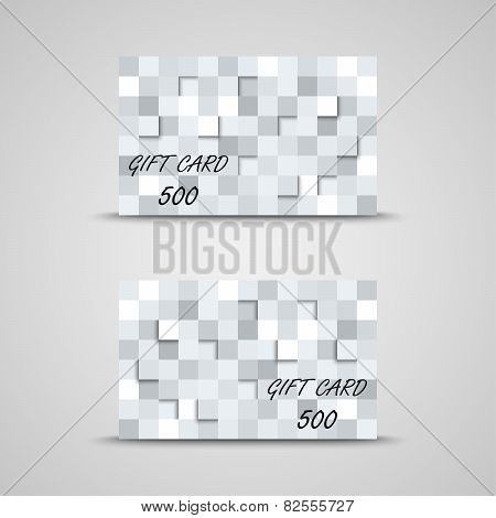 Gift Card With Abstract Squares