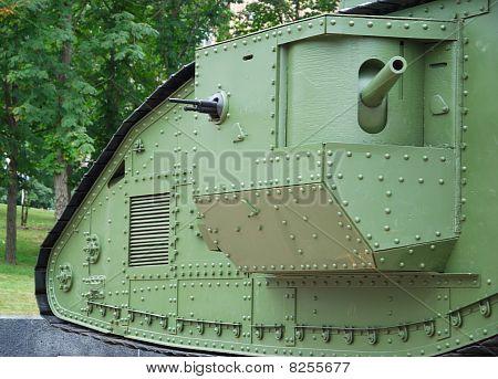 A British Mark V Tank (details)