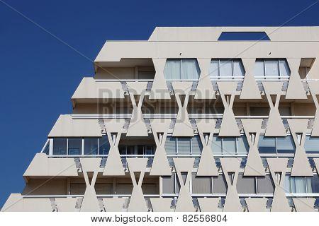 Pyramidal building in La Grande Motte, France