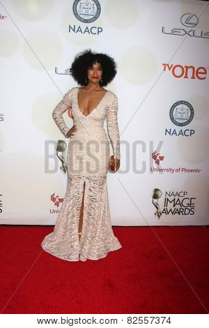 LOS ANGELES - FEB 6:  Tracee Ellis Ross at the 46th NAACP Image Awards Arrivals at a Pasadena Convention Center on February 6, 2015 in Pasadena, CA