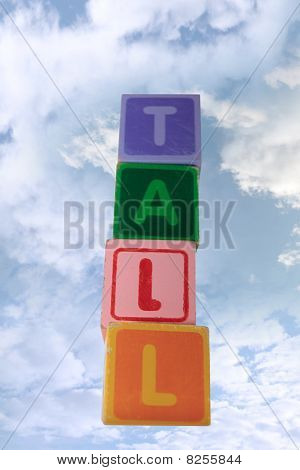 Tall In Clouds Assorted Toy Play Blocks