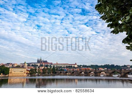 General View Of Charles Bridge Prague