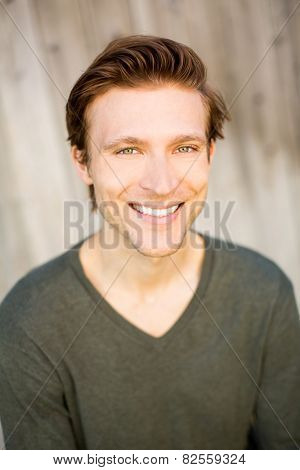 Portrait of a smiling friendly man