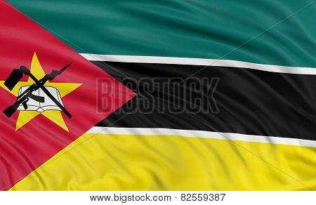 3D flag of Mozambique