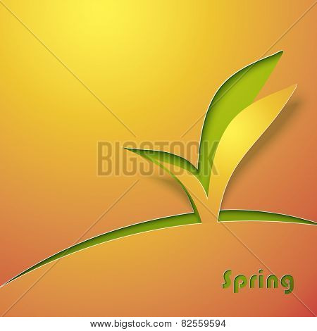 Green sprout abstract background. Vector illustration.