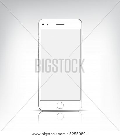 vector realistic phone with empty screen