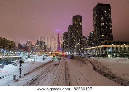 Toronto Downtown In The Winter