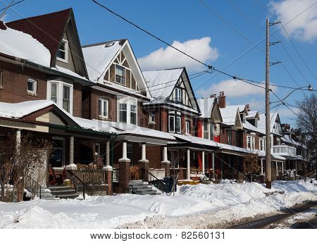 Buildings In Toronto And Snow