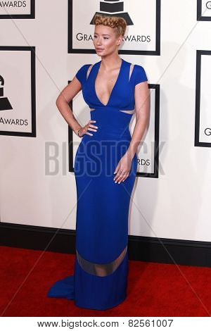 LOS ANGELES - FEB 8:  Iggy Azalea at the 57th Annual GRAMMY Awards Arrivals at a Staples Center on February 8, 2015 in Los Angeles, CA