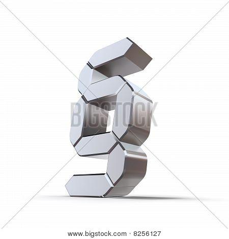 Metallic Paragraph Symbol - Lcd Look