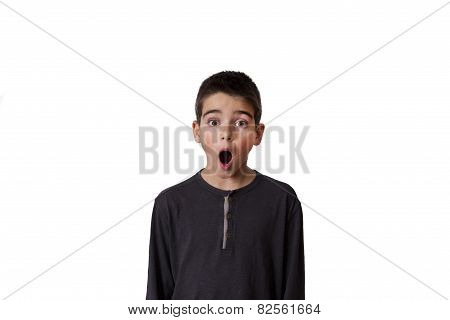child with expression of surprise
