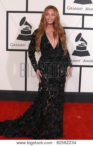 LOS ANGELES - FEB 8:  Beyonce Knowles at the 57th Annual GRAMMY Awards Arrivals at a Staples Center on February 8, 2015 in Los Angeles, CA