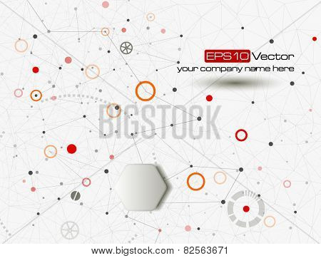 Industry, technology and communication concept. Vector illustration