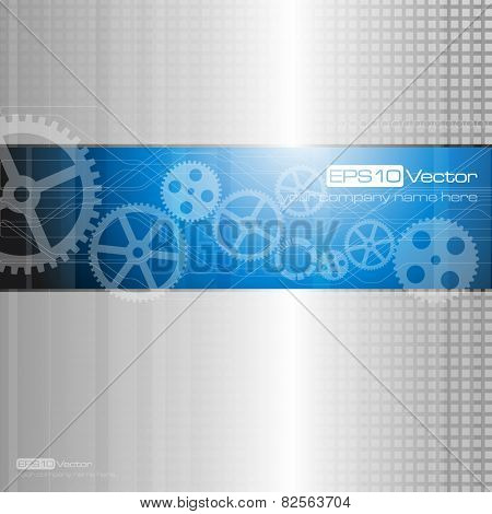 Web and mobile interface graphic template. Corporate website design. Media background. Editable. Industry and technology concept. Vector illustration