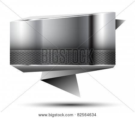 Abstract metallic banner. Illustration.