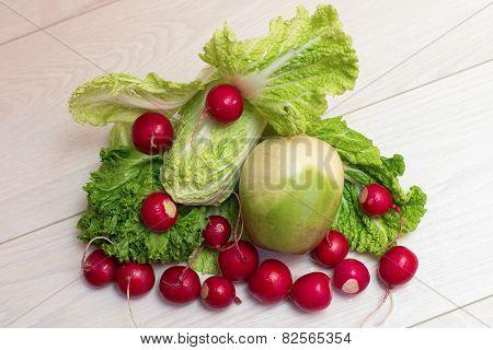 Set of salad
