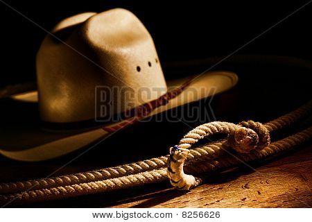 Oeste americano laço de Cowboy de rodeio