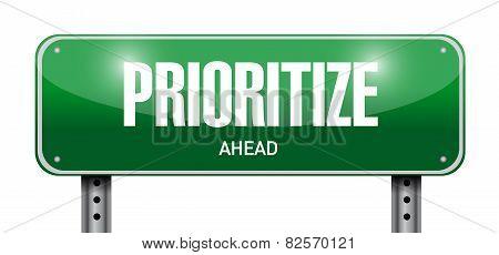 Prioritize Road Sign Illustration Design