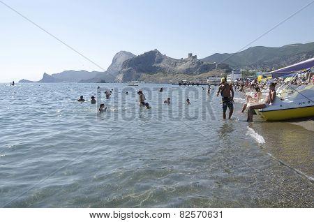 Attraction - Water Bikes In Sudak In The Crimea